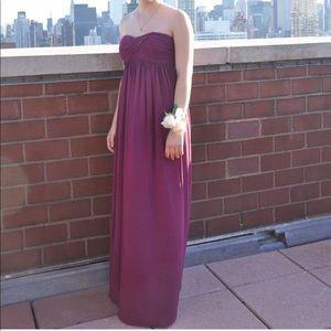 J Crew strapless prom dress